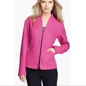 Lafayette 148 Patricia Cerise Tweed Pink Blazer